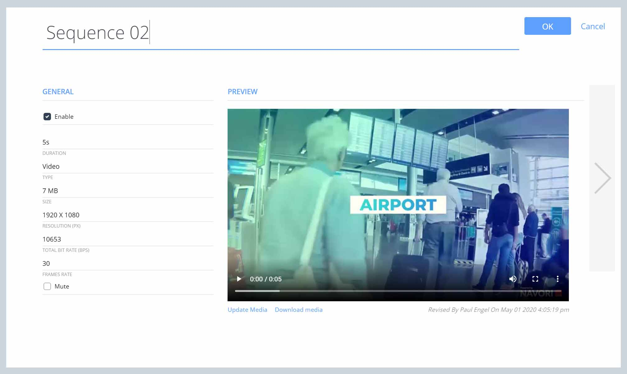 Digital Signage Video Content Preview