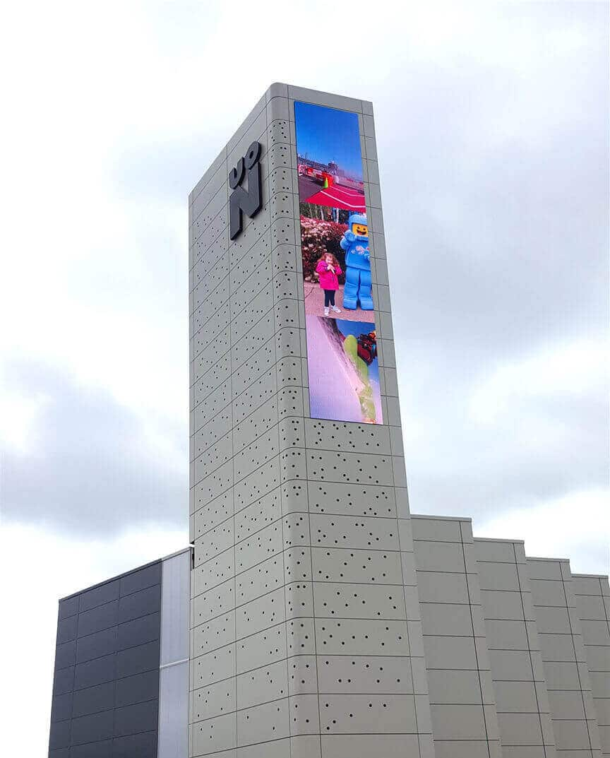 Outdoor LED Display on Skyscraper's Wall