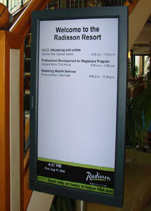 Hotel And Conference Room Occupancy Display