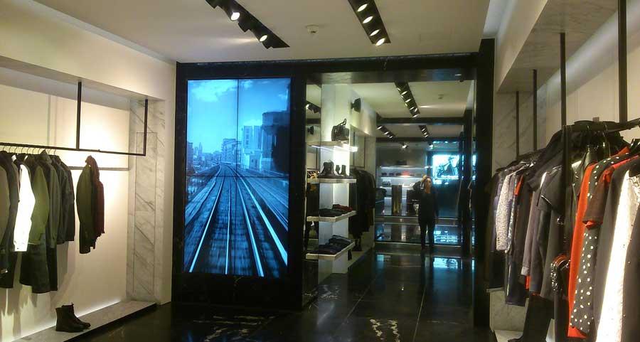 Retail Video Wall Display