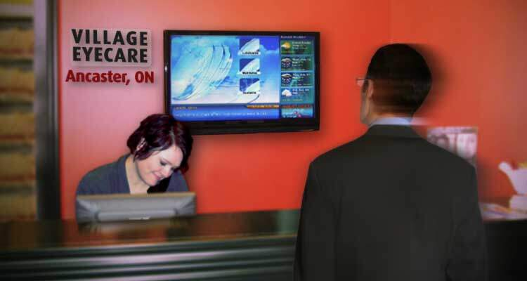 Healthcare Reception Desk Display Signage