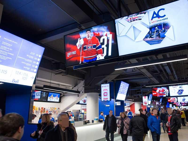 Multi-Display Digital Signage for Stadiums
