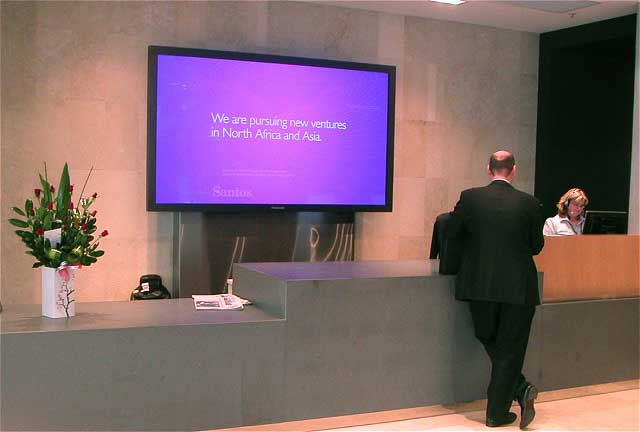 Interactive Digital Display for Lobbies and Receptions