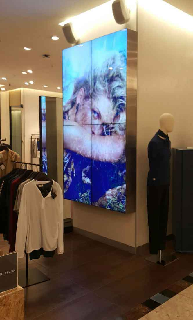 Interactive Retail Video Wall Displays