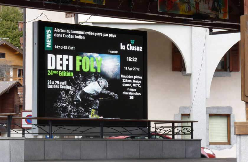 Outdoor LED Display In France