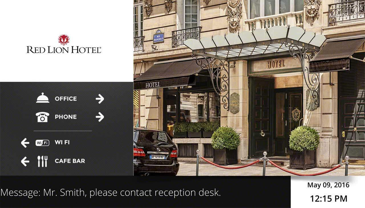 Hotel Digital Signage Template for Lobby