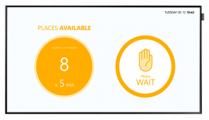 Access Control Display - MEASURE OCCUPANCY IN REAL TIME
