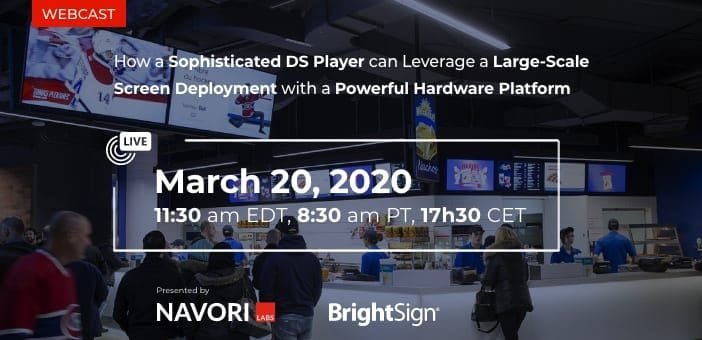 How a Sophisticated DS Player can Leverage a Large-Scale Screen Deployment with a Powerful Hardware Platform