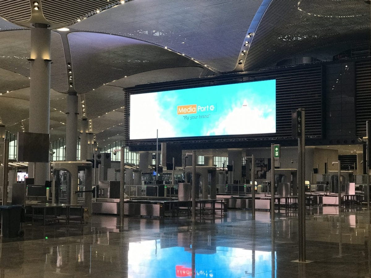 Digital Out of Home Advertising at Istanbul Airport