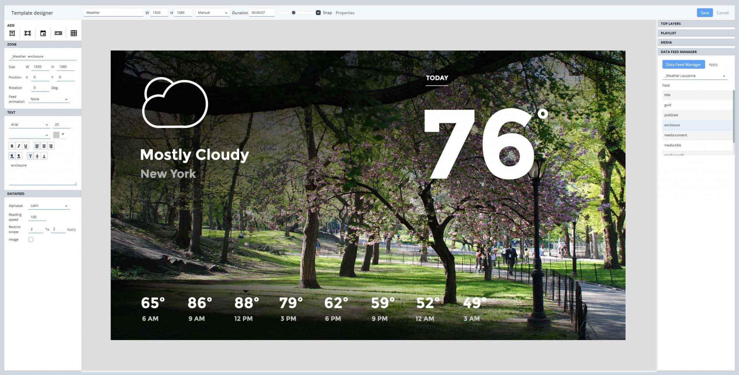 Weather Forecast Digital Signage Template