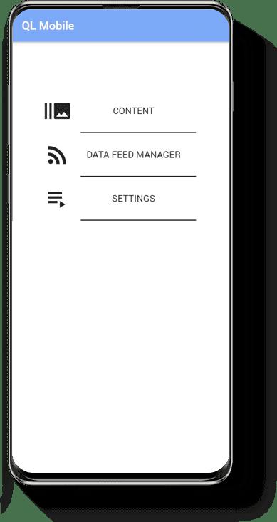 Navori QL mobile menu